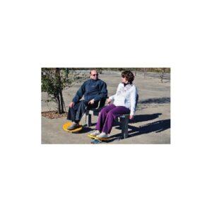 Ankel- og rotasjonsapparat. Forbedrer ankelrotasjon. Kan også brukes av rullstolbrukere