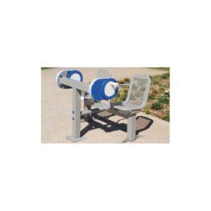 Håndsykkel (dobbel).Trener skulder- og albuerefleksjon, og ekstensjonsbevegelser. Kan også brukes av rullestolbrukere.